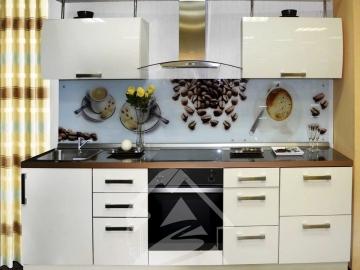 Кухня прямая 220см фасад Акрил цвет Сахар