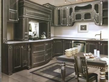 Кухня угловая 220х280см  фасад Массив Ясеня Т512/114-(БЕРТА)