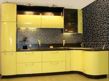 Кухня угловая 305см х 120см фасад Система RAL 1023 глянец