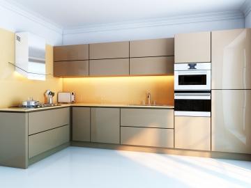 Кухня угловая 300смх120см  фасад Акрил-5 Мокко