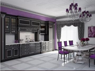 Кухня 390см прямая фасад Массив Т ясень 512/114 с патиной серебро-(БЕРТА)
