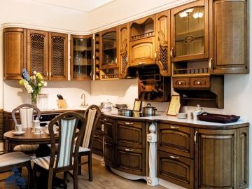 Кухня из массива ясеня Т512102-(БЕРТА)
