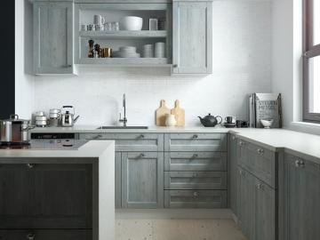 Кухня угловая 260смх240см  фасад мдф рамочный Марсель-4 ПП Люберон